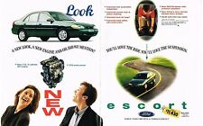 PUBLICITE ADVERTISING  1996  USA  FORD   ESCORT  (2 pages)