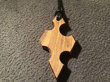 Pendant Necklace, Solid English Oak Awesome Shaped Pendant.