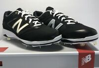 New Balance Mens Size 10.5 WIDE Low Metal Baseball Cleats Black Gold White Gray