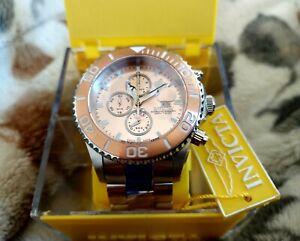 Invicta Sea Base Swiss Made Chronograph #18003 Rose Gold Bezel - Beautiful!