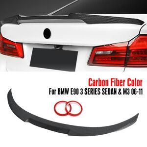 Carbon Fiber Trunk Spoiler Wing M4 Style For BMW E90 06-11 3 Series Sedan Kit