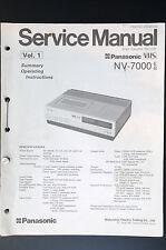 Panasonic NV-7000 Vol.1-vol.4 Original Manual de Servicio/Manual/Diagrama