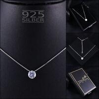 Zirkonia Kette Halskette 925 Sterling Silber Damen ❤ SWAROVSKI ELEMENTS ❤ + ETUI