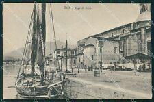 Brescia Salò Lago di Garda Barca cartolina QT4733