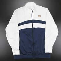 Vintage NIKE Blue White Zip Up Track Sports Jacket Mens Size XL