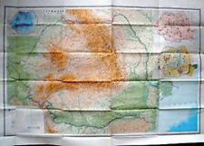 Vintage Soviet Wall Map Romania Moscow 1980 M 1:1 000 000