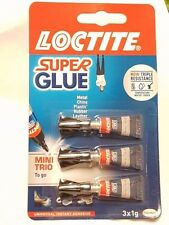 LOCTITE SUPER ATTAK POWER FLEX Trio Mini Set con colla, confezione da 3 x 1 G