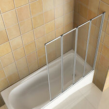 Aica 800 Over Bath Folding Shower Screen 4 Fold Door Panel 4mm Reversible Glass