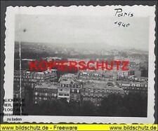 Foto II WK - Paris vom Eiffel gesehen 1940 (4,5cm x 6cm)