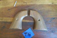 Colt Single Action Grips Wood 2 Piece Types Vintage W/ Screw