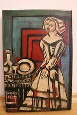 sig. Kadar BELA !!! HERRLICHES Gemälde Kubismus Mitte 20 Jhd Ungarische Schule