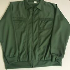 haband green zip front shirt size L