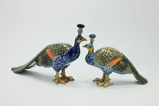 Miniature Ceramic Peacocks (2pcs.) Figurine Statue Decorative Collectibles