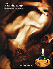 PUBLICITE ADVERTISING 025  1992  FANTASME  parfum TED LAPIDUS