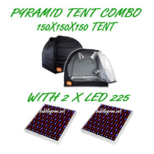 PYRAMID GROCELL 150X150X150 GROW TENT WITH LED 225 ENERGY SAVING LIGHT