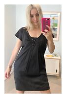 Womens Designer Mad Cortes Black Dress With Jewel Bead Detail Size 10 AUS