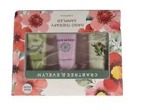 CRABTREE & EVELYN  SET X 3 PACK HAND THERAPY SAMPLER 25ML EACH BRAND NEW BOXED