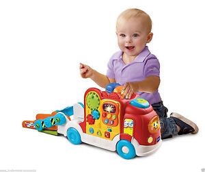 Ab 1 Jahr Vtech Tut Tut Baby Sound Autotransporter Abschlepper + Flitzer LKW
