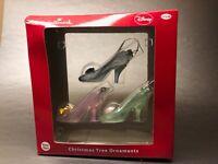 Hallmark Disney Blown Glass Cinderella Slipper Christmas Tree Ornaments High