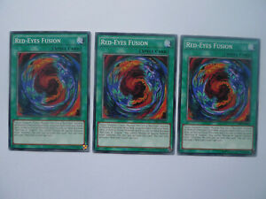 Red-Eyes Fusion x 3 * LDK2 Common Playset * Yu-gi-oh