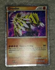 SHINING SHINY GROUDON SL4 Ultra Rare Holo Pokemon Card! Call of Legends VG/LP