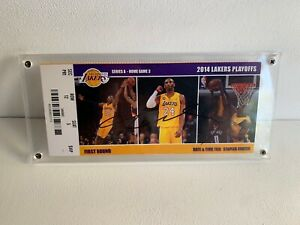 Kobe Bryant Signed un-used game ticket