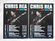 "CHRIS REA - Live in Concert ""Santo Spirito"" 2012 UK Tour. Promo tour flyers x 2"