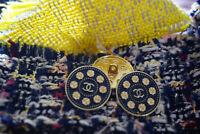 100% Authentic Chanel Buttons 3 pieces logo cc 💋💋💋 20 mm gold