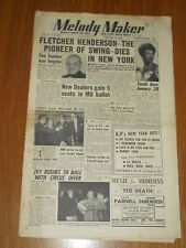 MELODY MAKER 1953 #1007 JAN 3 JAZZ SWING FLETCHER HENDERSON SARAH VAUGHAN BENSON