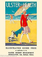 Ulster Belfast Ireland Irish Great Britain Travel Advertisement Art Poster