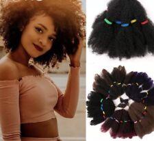 12''AFRO KINKY BULK HAIR SYNTHETIC EXTENSIONS CROCHET BRAIDING TWIST HAIR