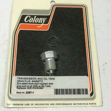Harley-Davidson Colony Zinc Plated Trans and Oil Tank Drain Plug 2297-1 New H-D