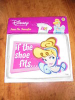 Disney Princess Cinderella If The Shoe Fits Iron On Fabric Transfer Crafts NEW