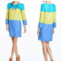 Anthropologie Maeve Brightblock Tunic Shift Dress 8 NWT Colorblock Spring Easter