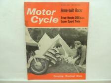 July 1963 Motorcycle Magazine Honda 305cc Super Sport Twin Ken Nicholls B1949