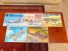 LOT OF 5 AIRCRAFT IN ACTION SERIES SQUADRON PUBLICATIONS, #9, 12, 14, 21, 25