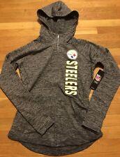 Pittsburgh Steelers Womens Hoodie Medium Nwt Grey Heather Full Zip