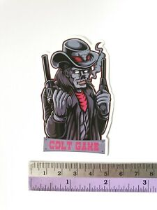 SANTA CRUZ Skull And Gun Sticker Bomb Scary Cartoons Skateboard Stickers