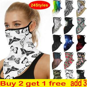 Face Mask Scarf Snood Washable Breathable Cover Protection Ear Loop Bandana