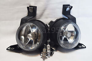 Glass Driving Fog Lights Lamps w/2 Light Bulbs One Pair For 2001-2005 Beetle