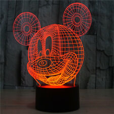 3D mickey mouse colorful reading led touch table night light usb home lamp gift