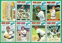 1977 TOPPS BOSTON RED SOX TEAM SET  NM  EVANS  FISK  LYNN  RICE  TIANT  YAZ