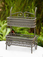 Miniature Dollhouse FAIRY GARDEN ~ Rustic Metal Plant Cart ~ NEW