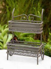 Miniature Dollhouse FAIRY GARDEN ~ Rustic Metal Plant Cart ~ NEW