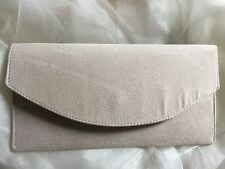 IVORY ENVELOPE CLUTCH BAG HANDMADE FAUX SUEDE WEDDING PARTY