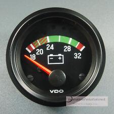 VDO Voltmeter instrumento gauge 24v 52mm cabina International Classic negra