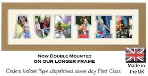 Auntie Photo Frame Word Frame Birthday Gift by Photos in a Word