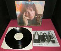 PAT TRAVERS BAND School of Hard Knocks - VINYL LP + Signed Print - 1990, UK - EX