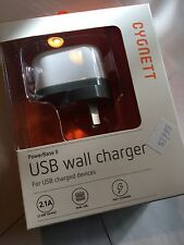 Cygnett USB Wall Charger PowerBase II Dual-USB ART573-02 Brand New & Sealed pack