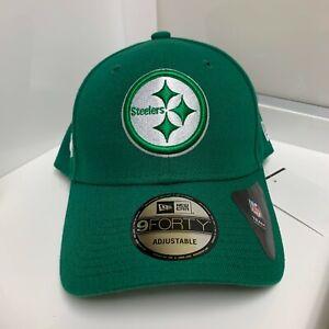 Pittsburgh Steelers 9Forty Adjustable Green Shamrock Baseball Cap NFL